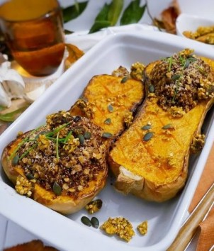 Stuffed butternut with quinoa and tiger nut - our CROC Doré