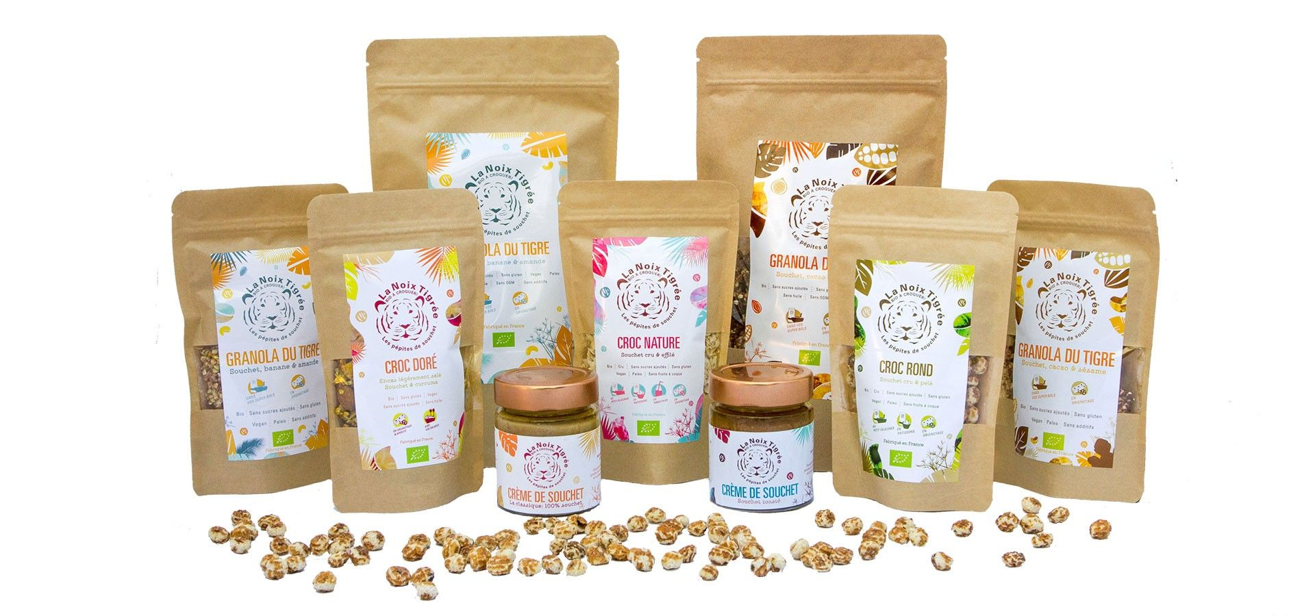 Our full tiger nut range